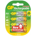 GP NIMH AA 1.2V 2600mAh Rechargeabe Batteries